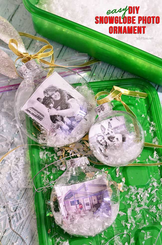 Easy diy photo snowglobe ornament tutorial at tidymom net