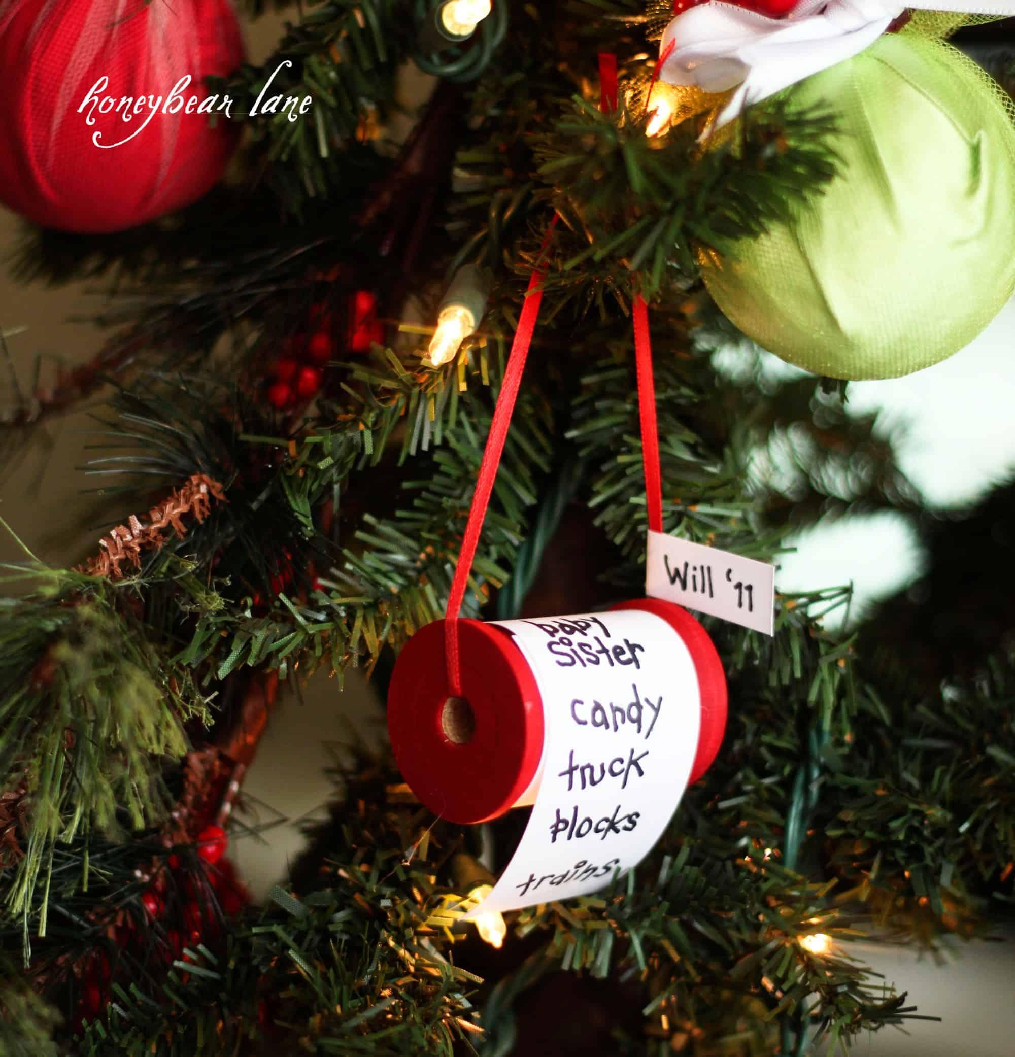 Pesronalized christmas lift ornaments