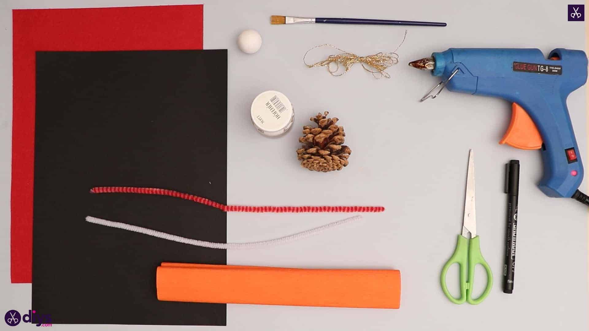Pinecone snowman crafts