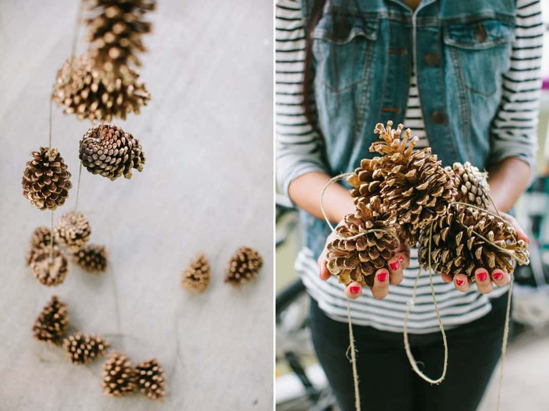 Pinecone window bunting