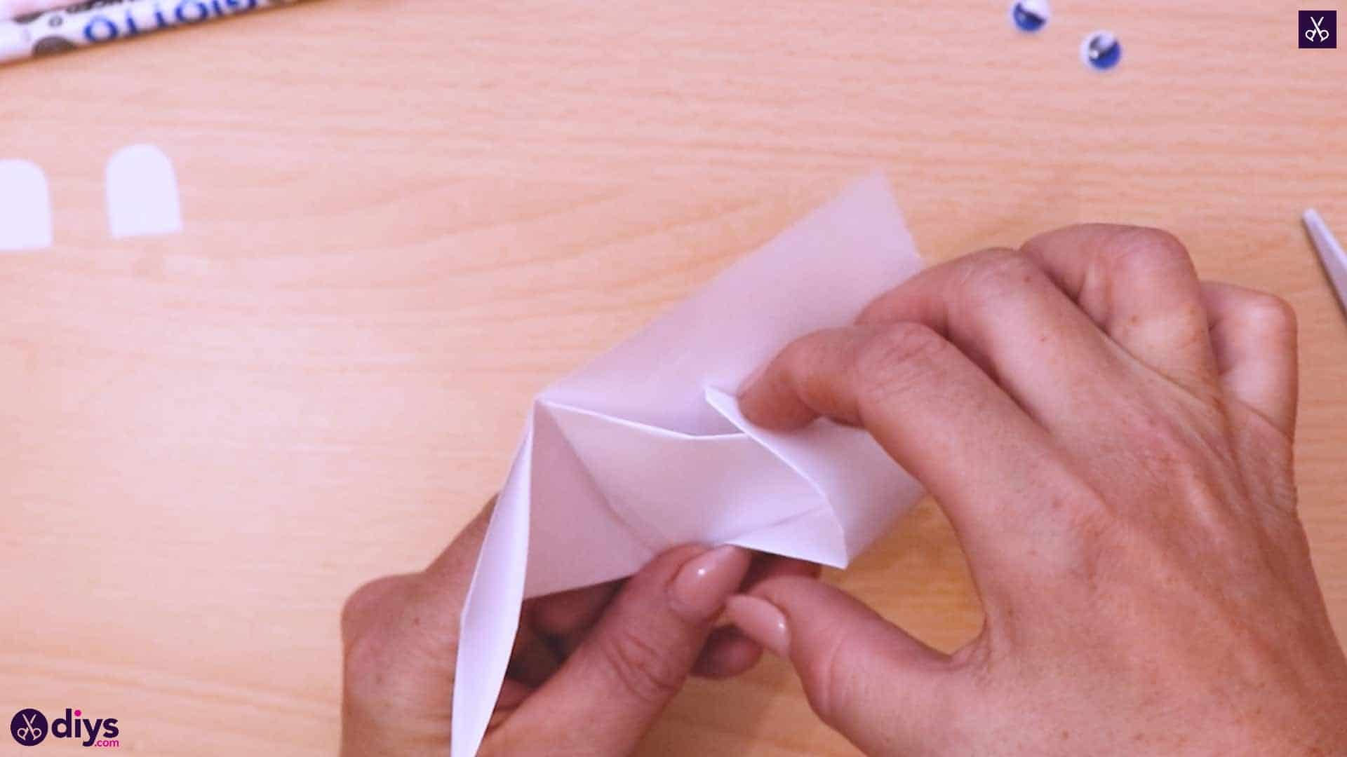 Polar bear corner bookmark paper craft