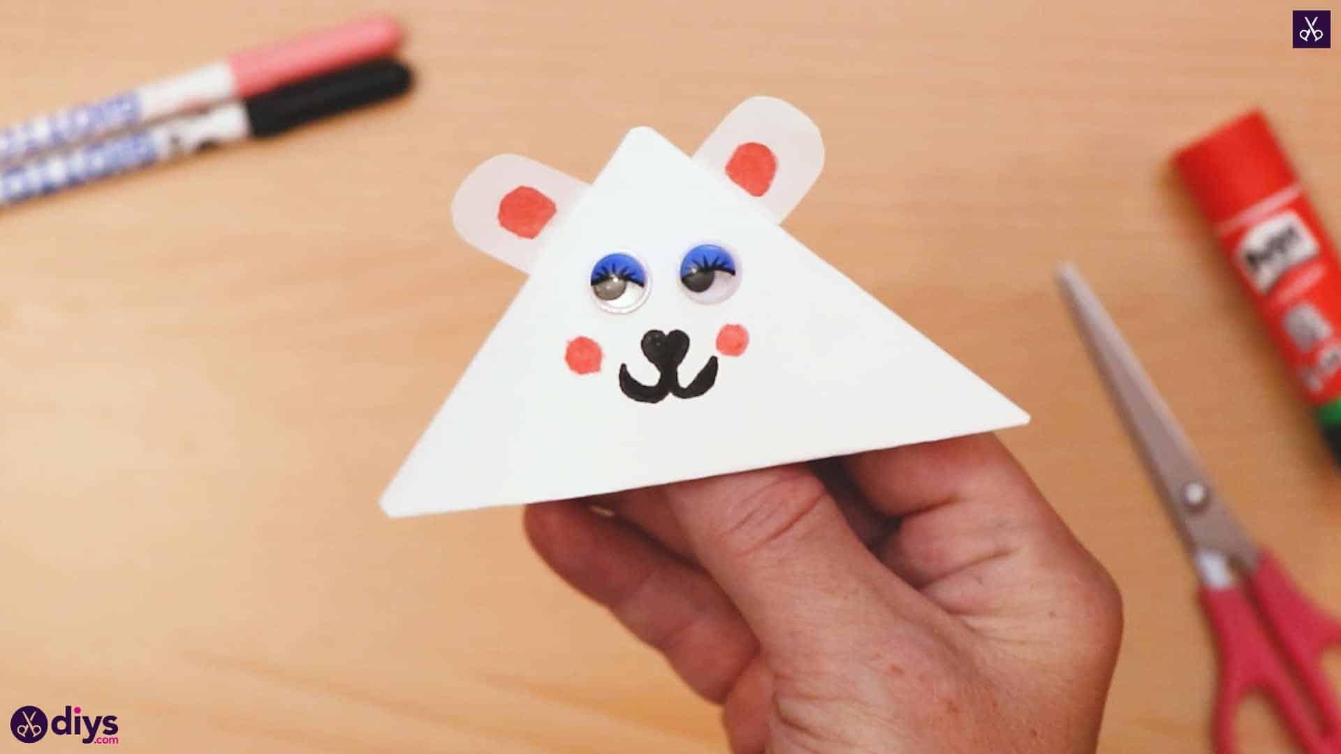 Polar bear corner bookmark