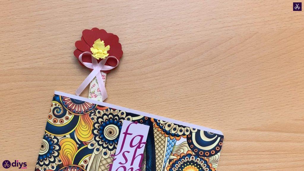 Popsicle stick flower bookmark