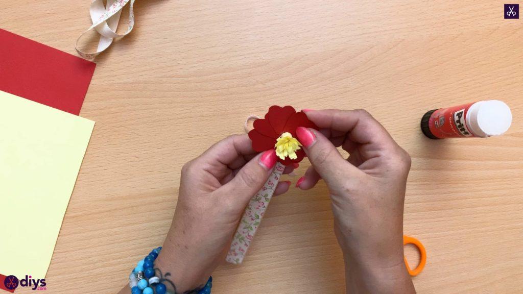 Popsicle stick flower bookmark flower