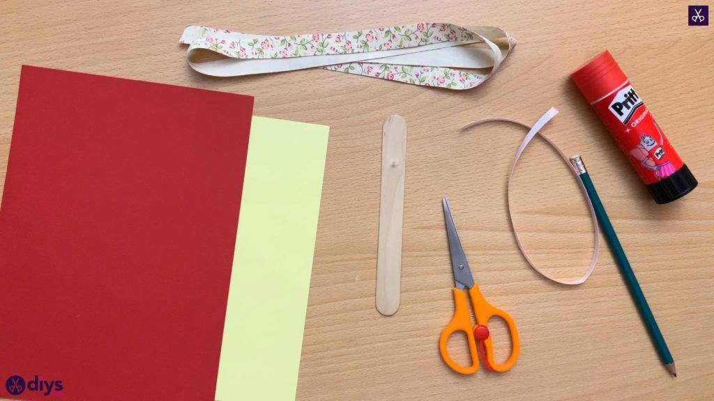 Popsicle stick flower bookmark materials