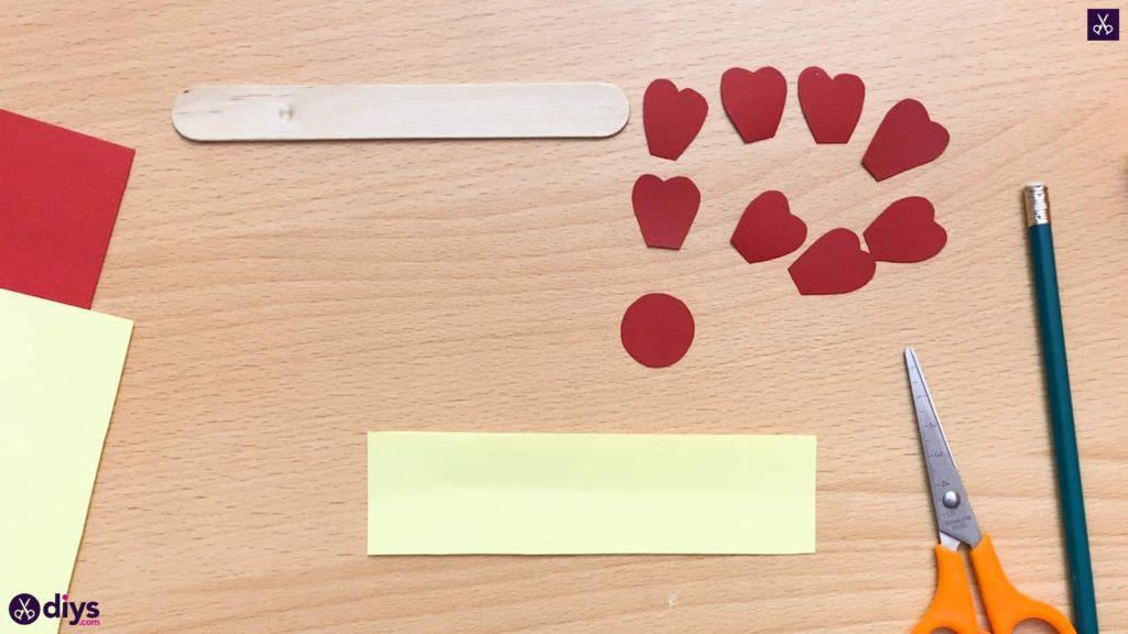 Popsicle stick flower bookmark round