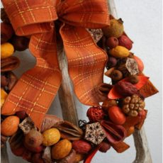 Pretty fall potpourri wreath