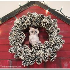 Pretty pinecone christmas mantel