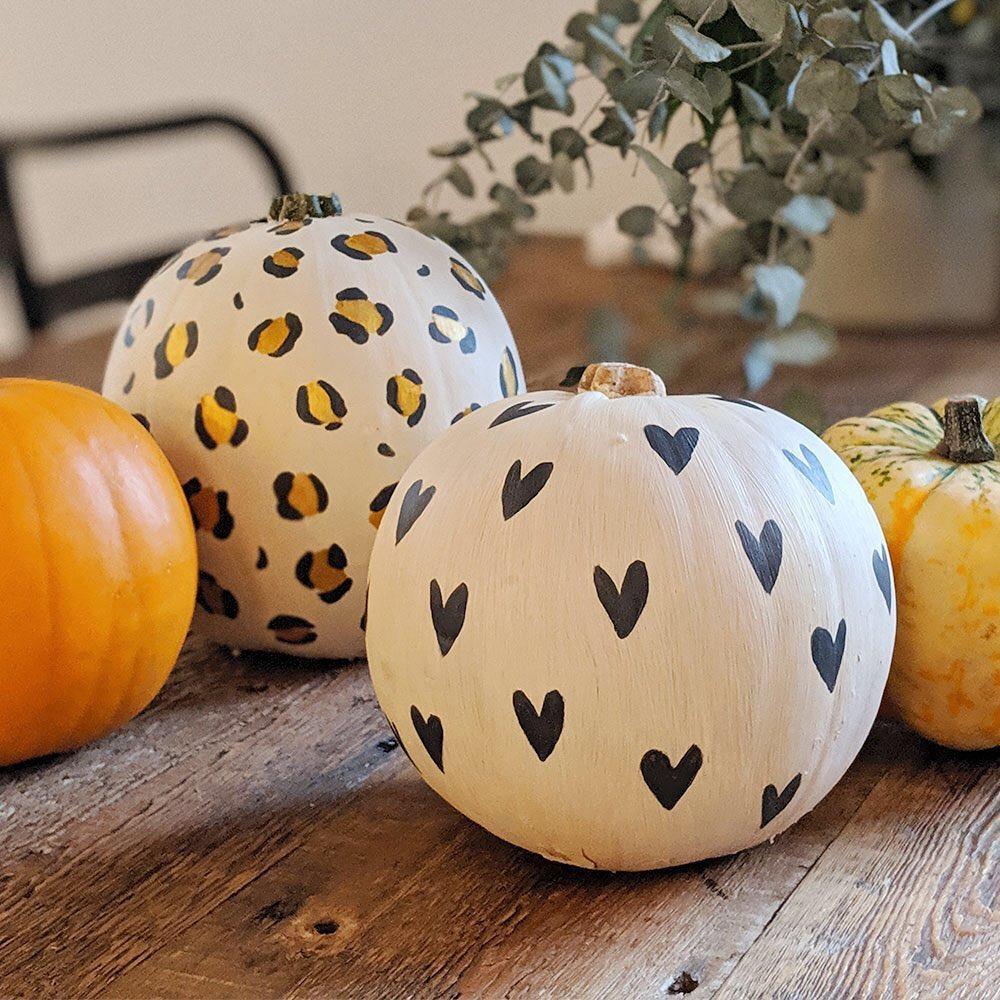 Pumpkin hearts