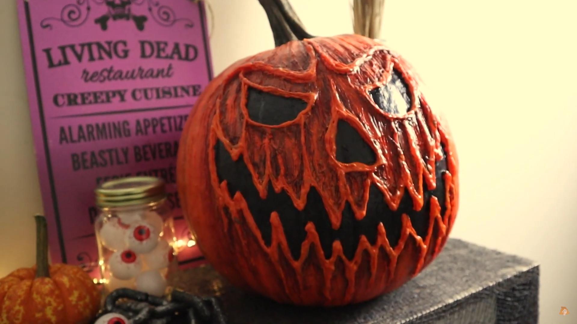 Scary pumpkin painting ideas