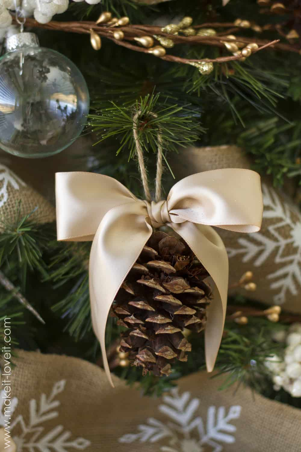 Simple, old fashioned pinecone ornaments