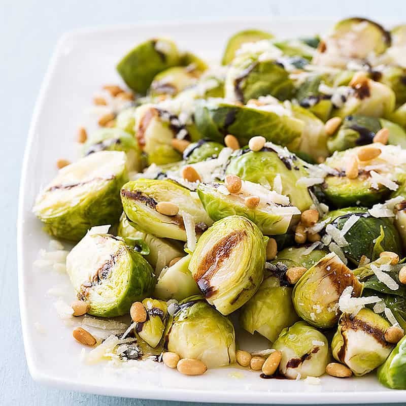 Slowc cooker balsamic glazed brussel sprouts