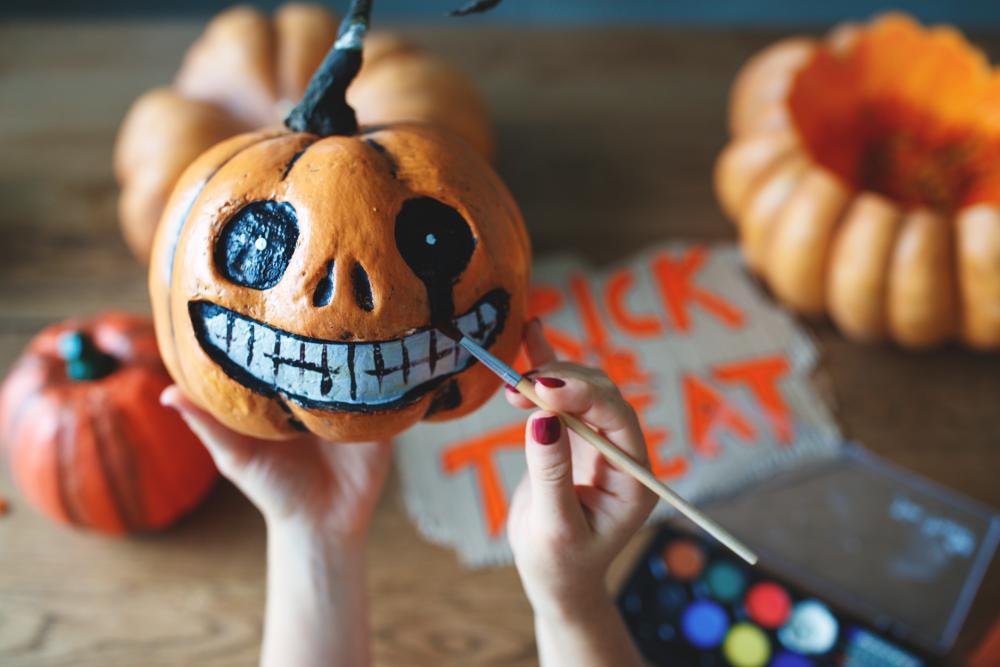 Smiling dead pumpkin