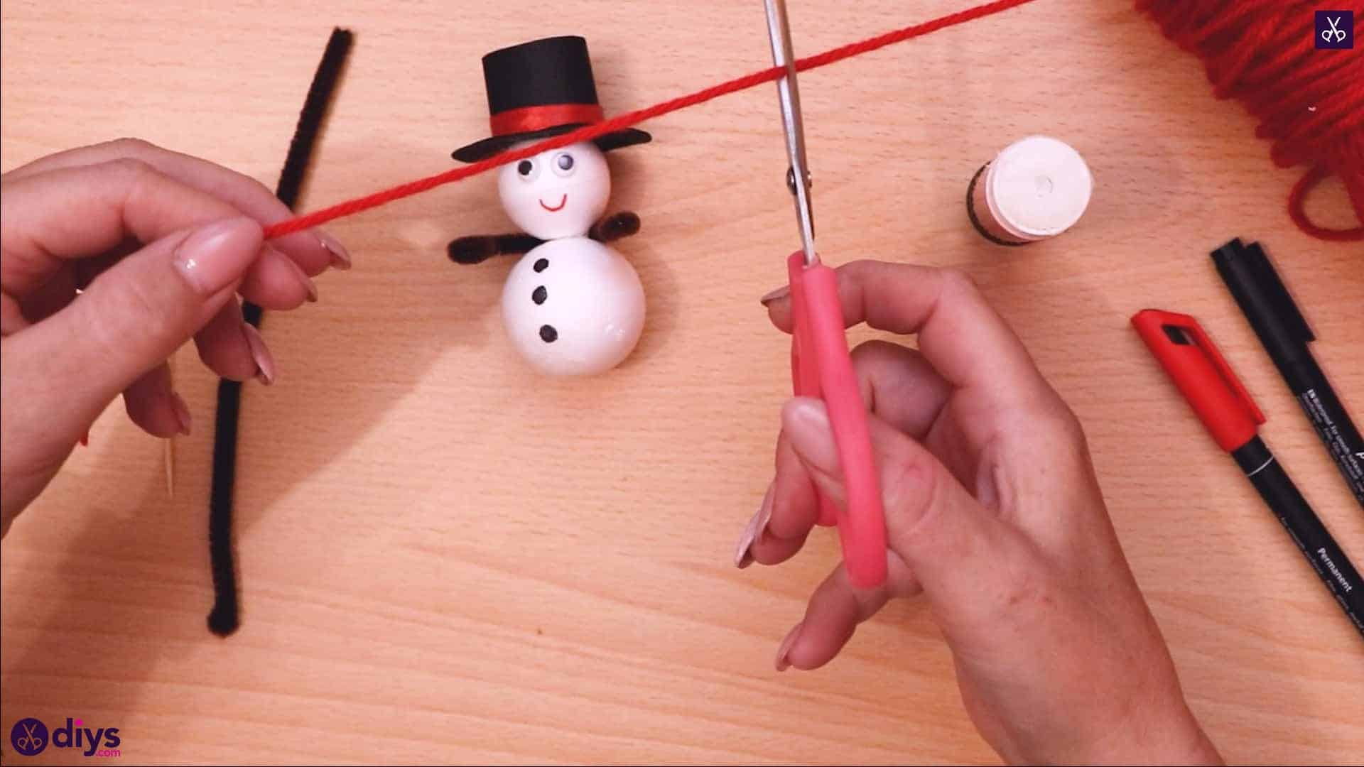 Styrofoam snowman cut