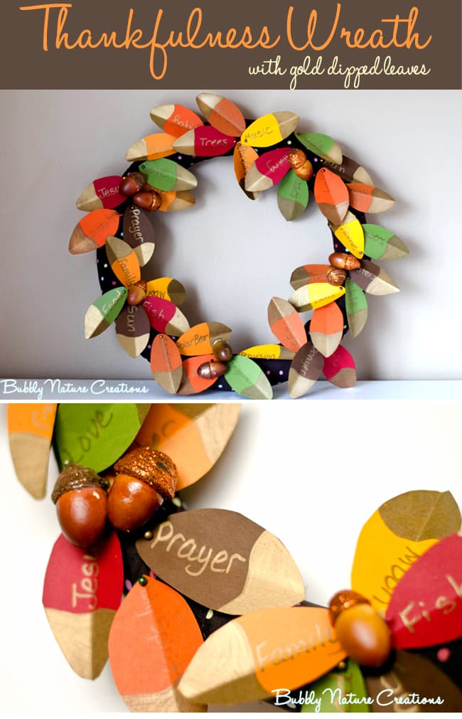 Thankfulness leaves wreath