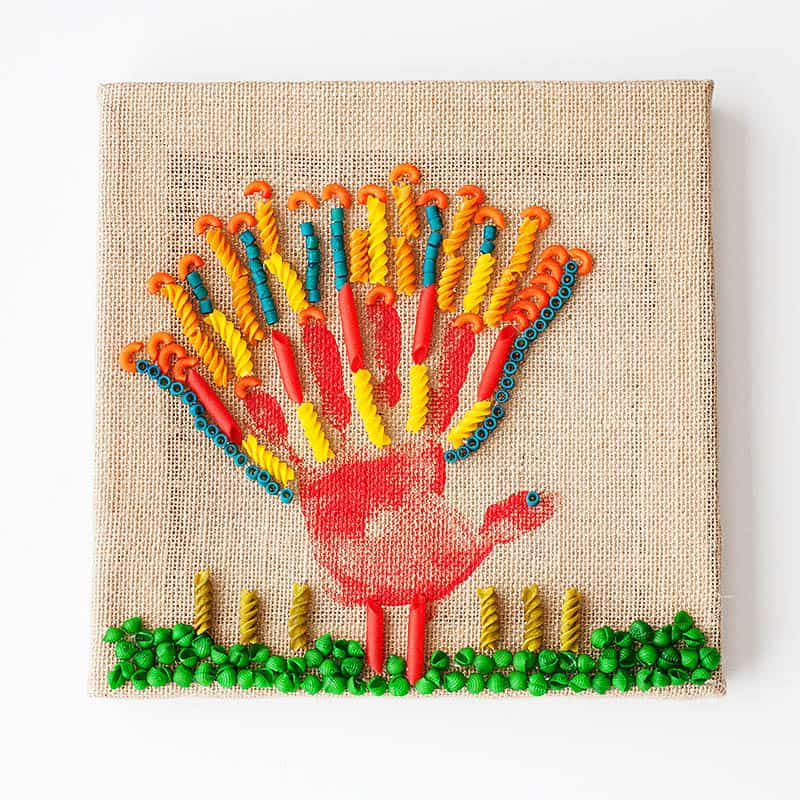 Thanksgiving pasta turkey canvas art