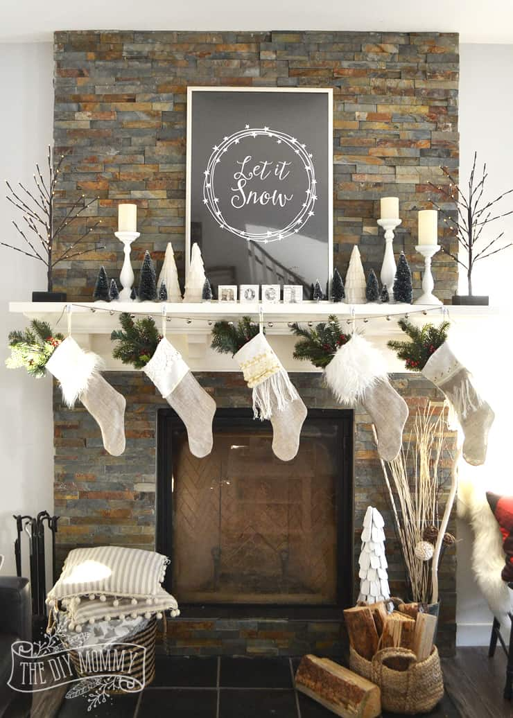 Tips and tricks for decorating a mantel with many stockings