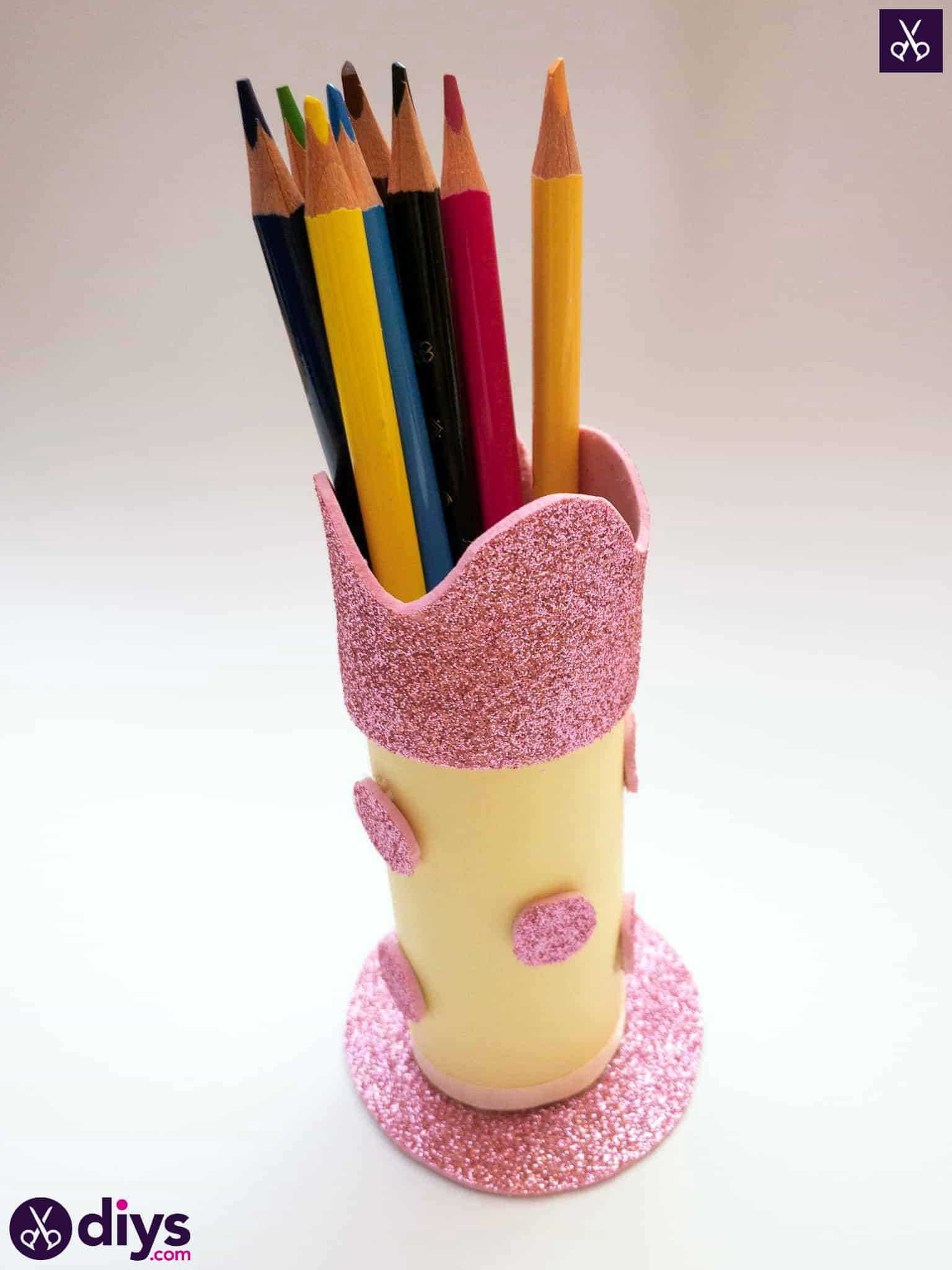 Toilet paper roll pencil holder back to school