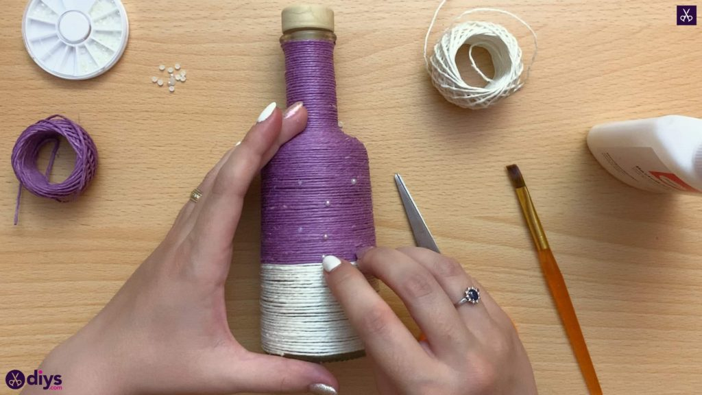 Twine wrapped bottle top