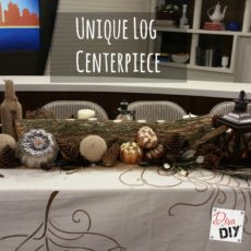 Unique log, candle, and fall nature centrepiece