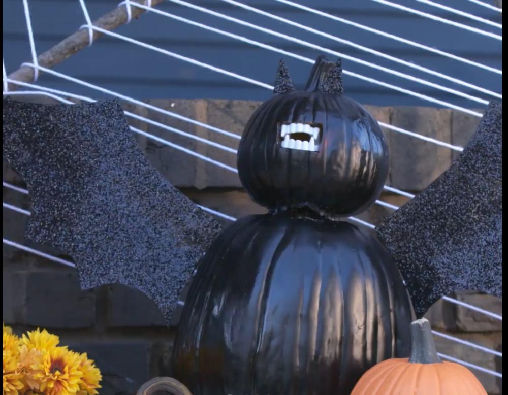 Vampire bat pumpkin tutorial