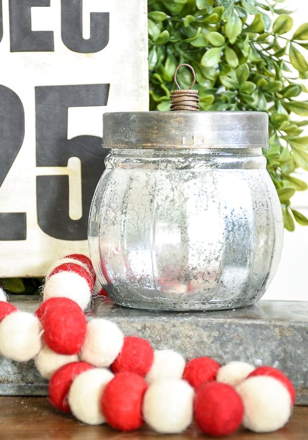 Vintage inspired ornamental christmas candy jar