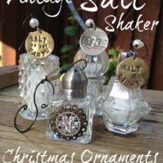 Vintage salt shaker ornaments
