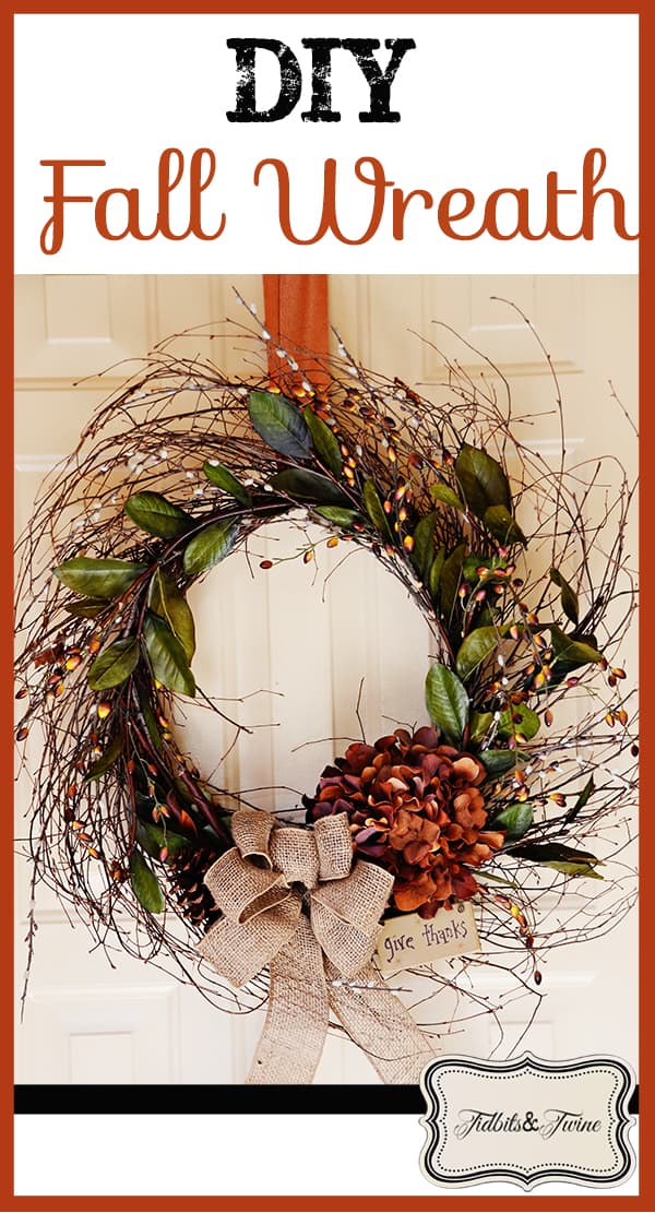Whimsical twig, berry, and bow wreath
