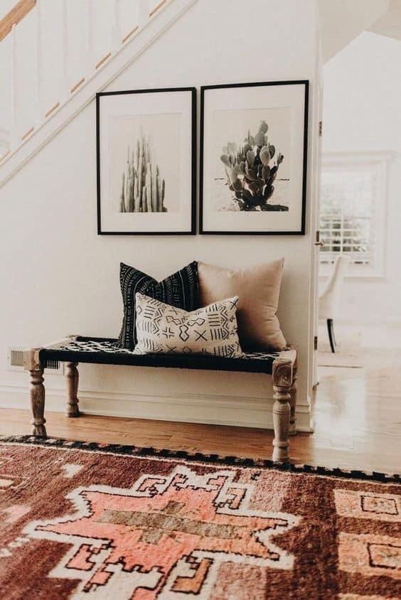 Bohemian foyer decor