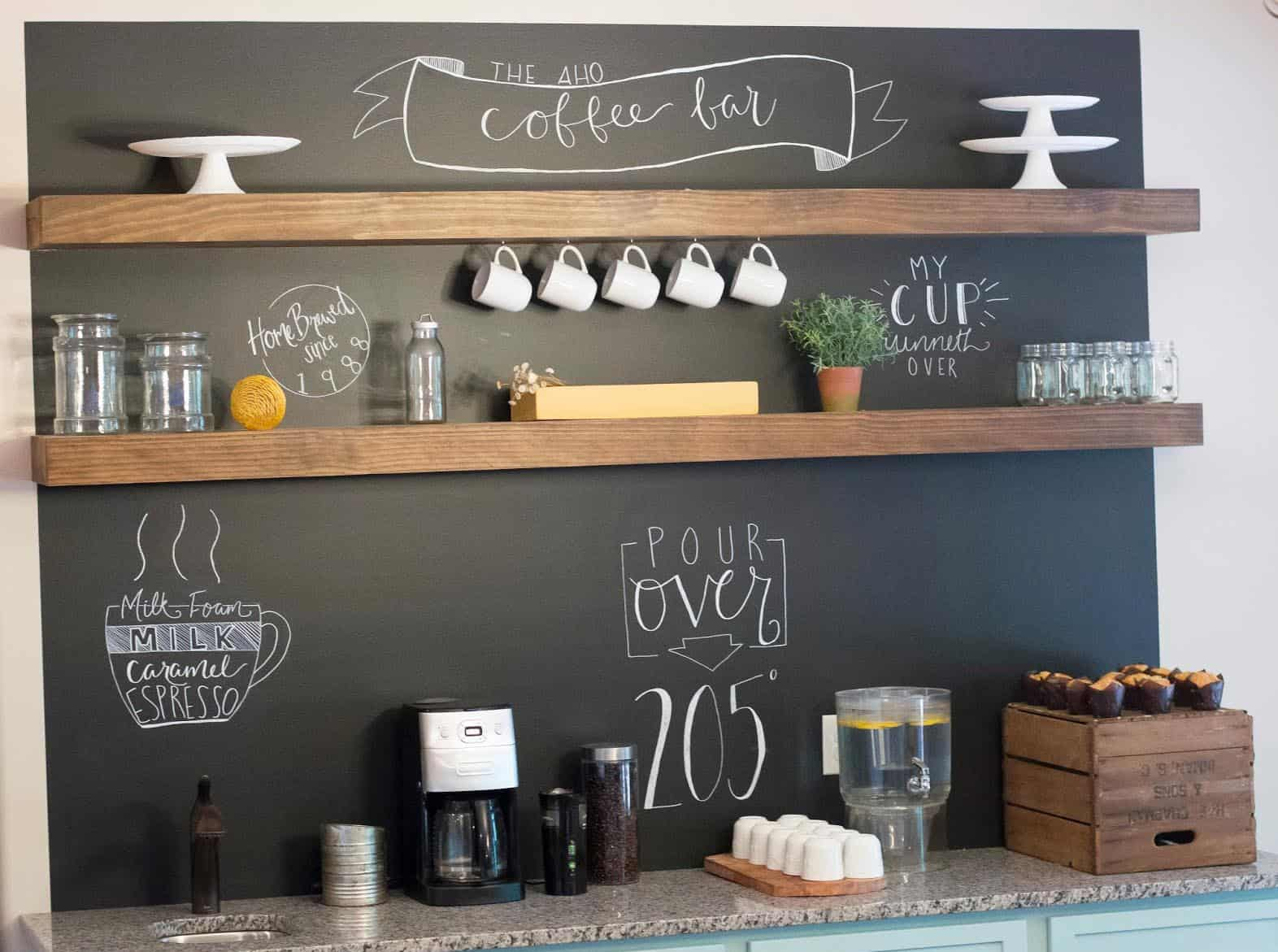 Chalkboard at home coffe bar