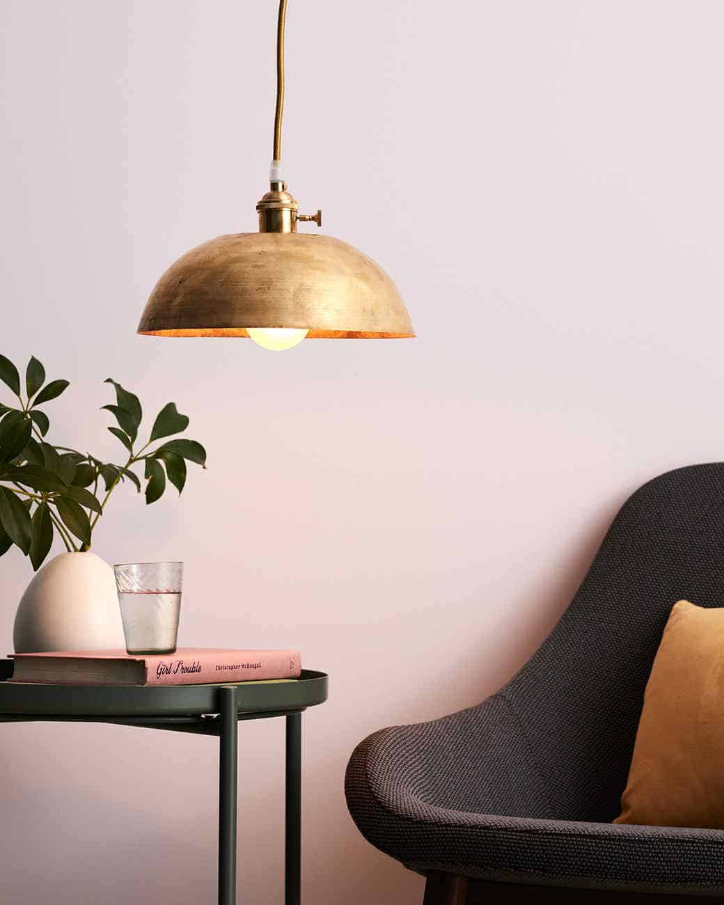 Diy copper brass pendant light