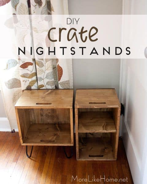 Diy crate nightstands