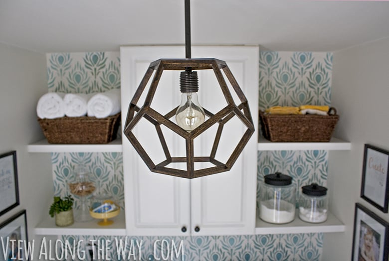 Diy dodecahedron pendant light