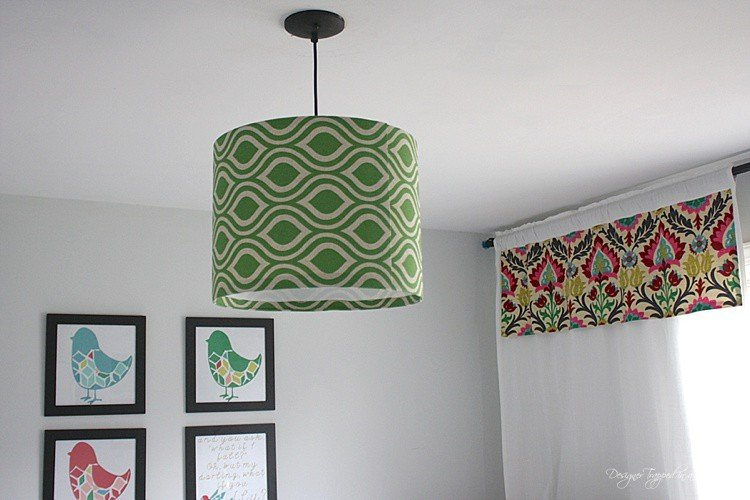 Diy fabric pendant light