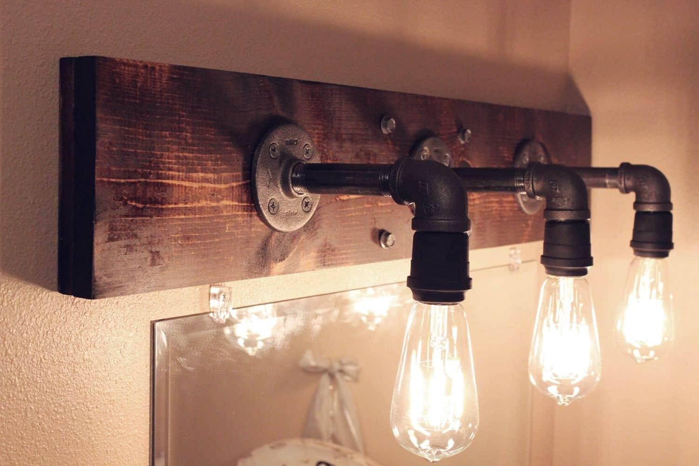 Diy industrial light fixtures
