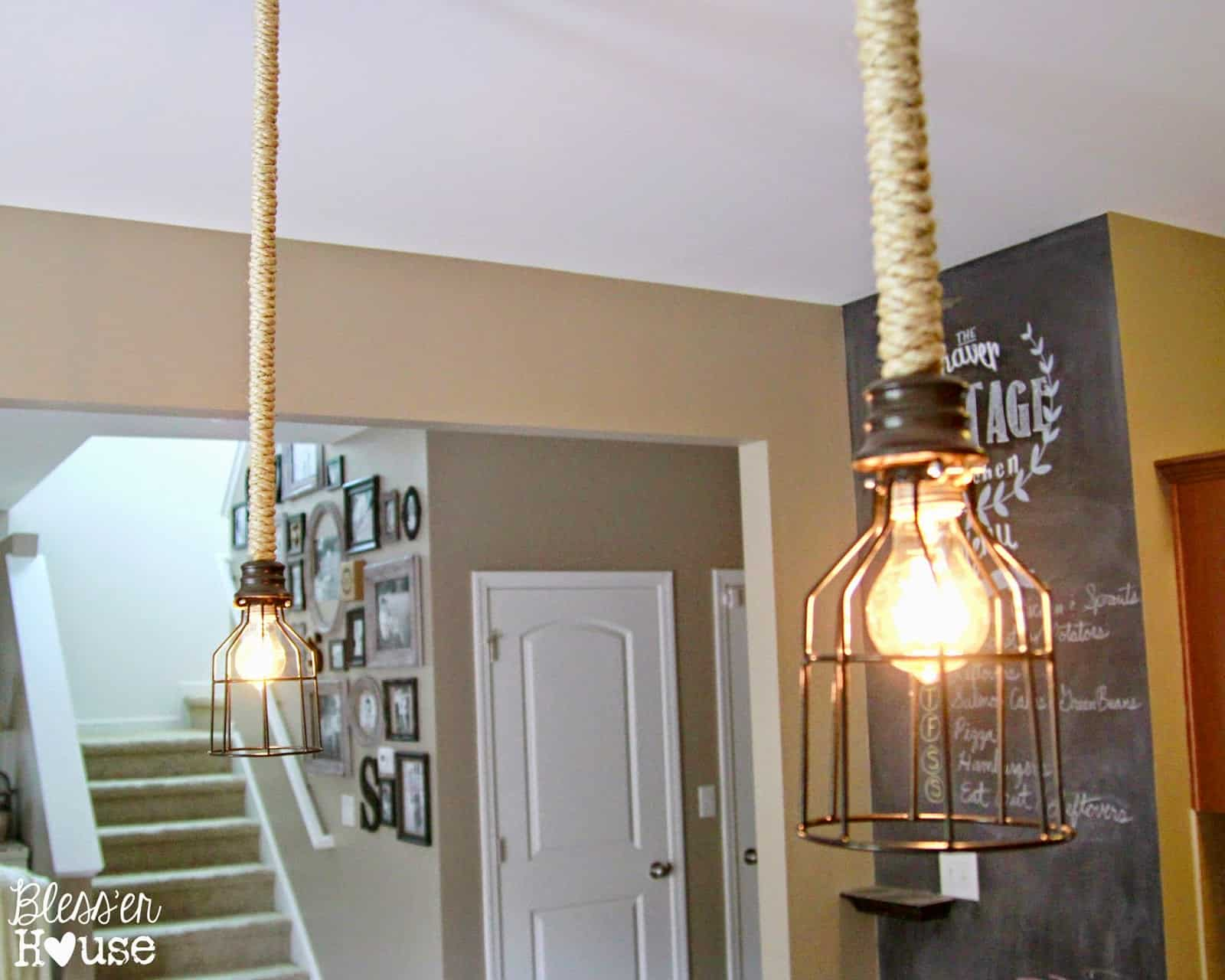 Diy industrial pendant light