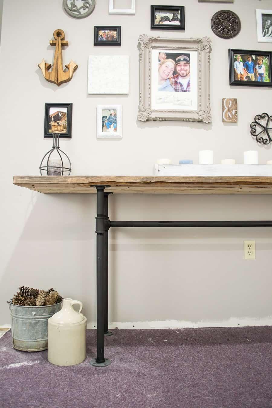 Diy industrial table