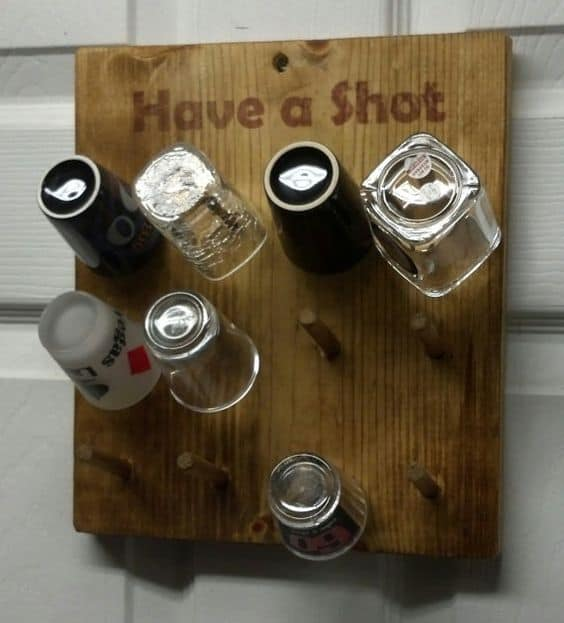 Diy shot glass holder