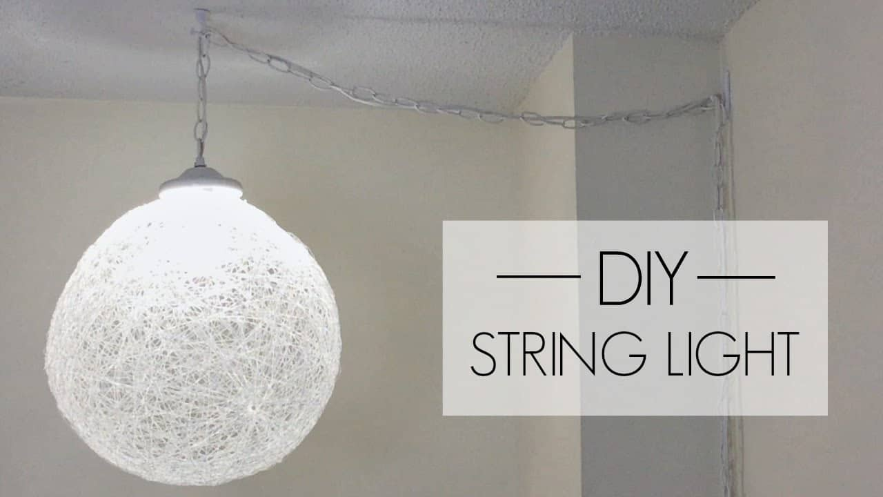 Diy string pendant light
