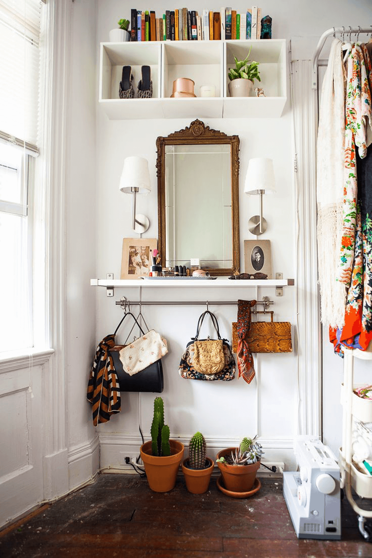Eclectic vintage foyer