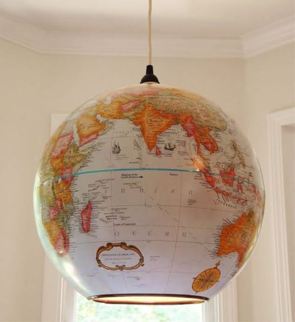 Globe pendant light diy 2