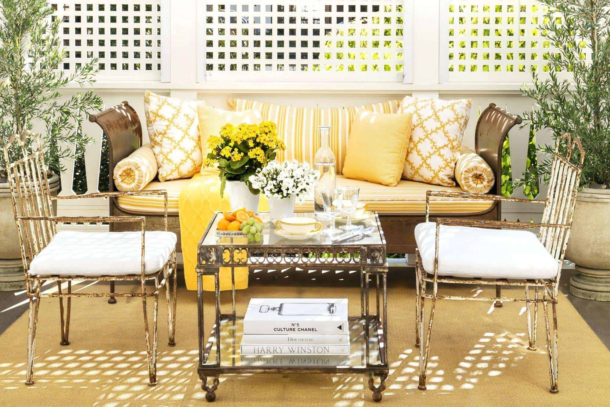 Gold and yellow porch