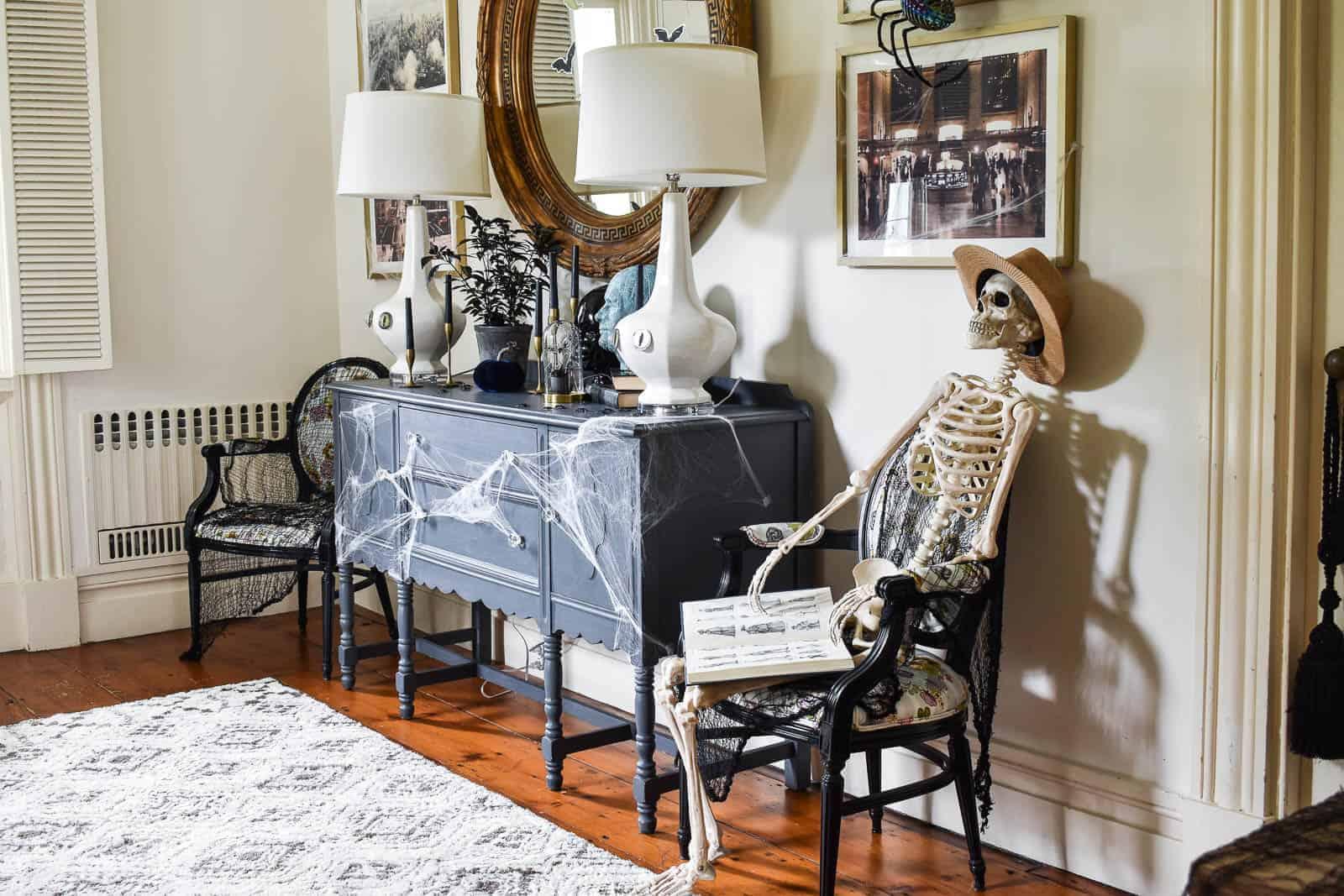 Halloween inspired foyer decor