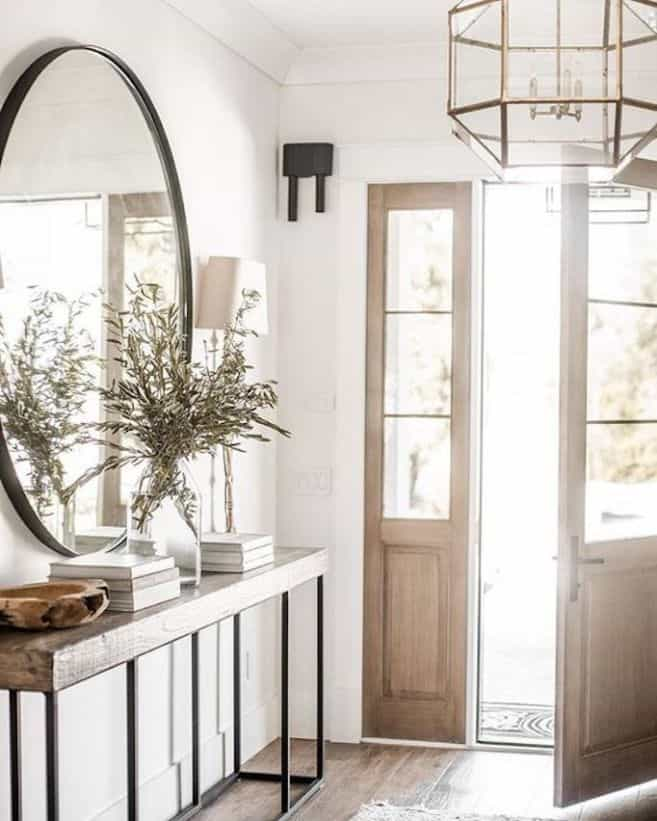 Perfectly styled entryway