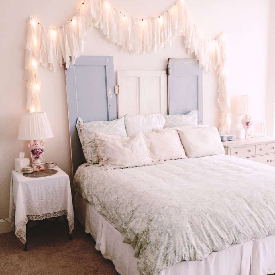 Romantic shabby chic bedroom