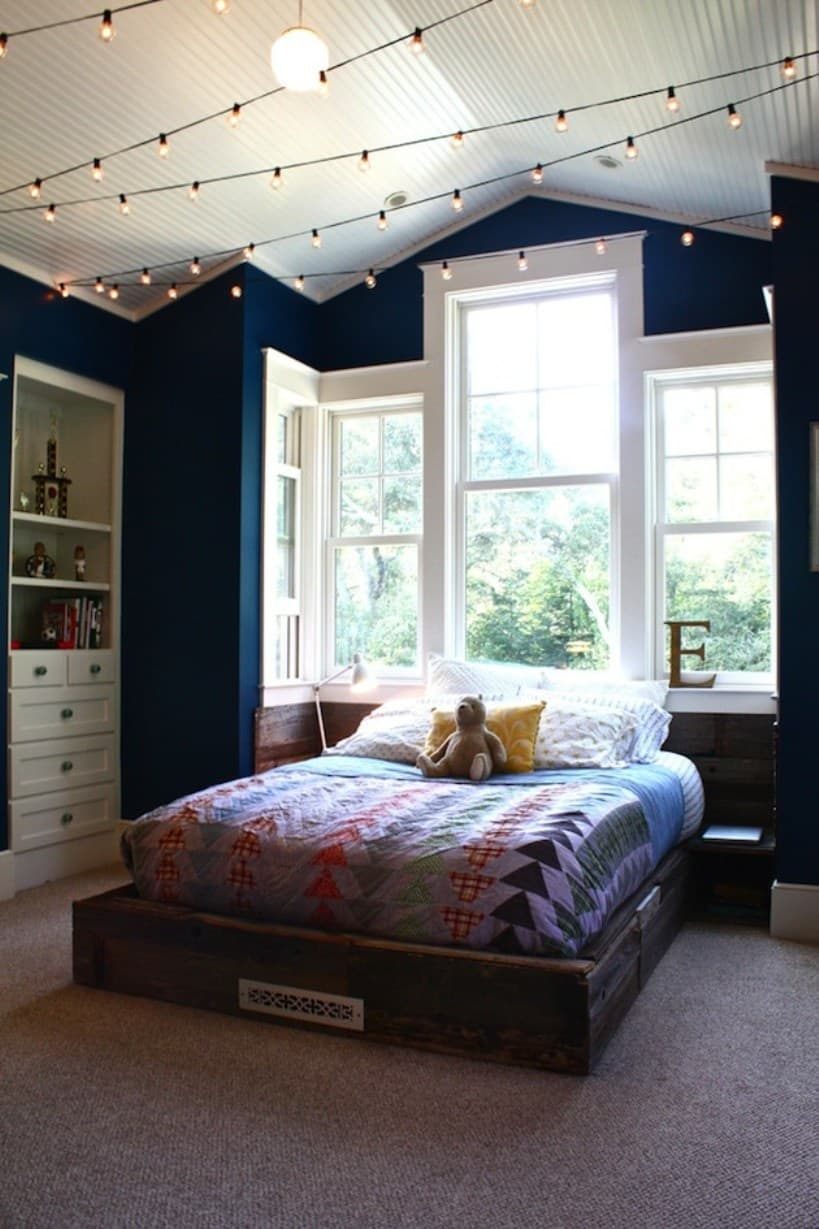 Teenage boy bedroom lights on ceiling