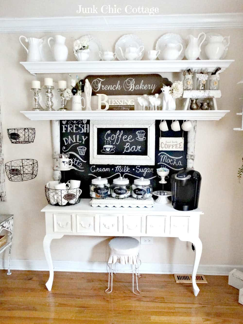 Victorian inspired coffee bar