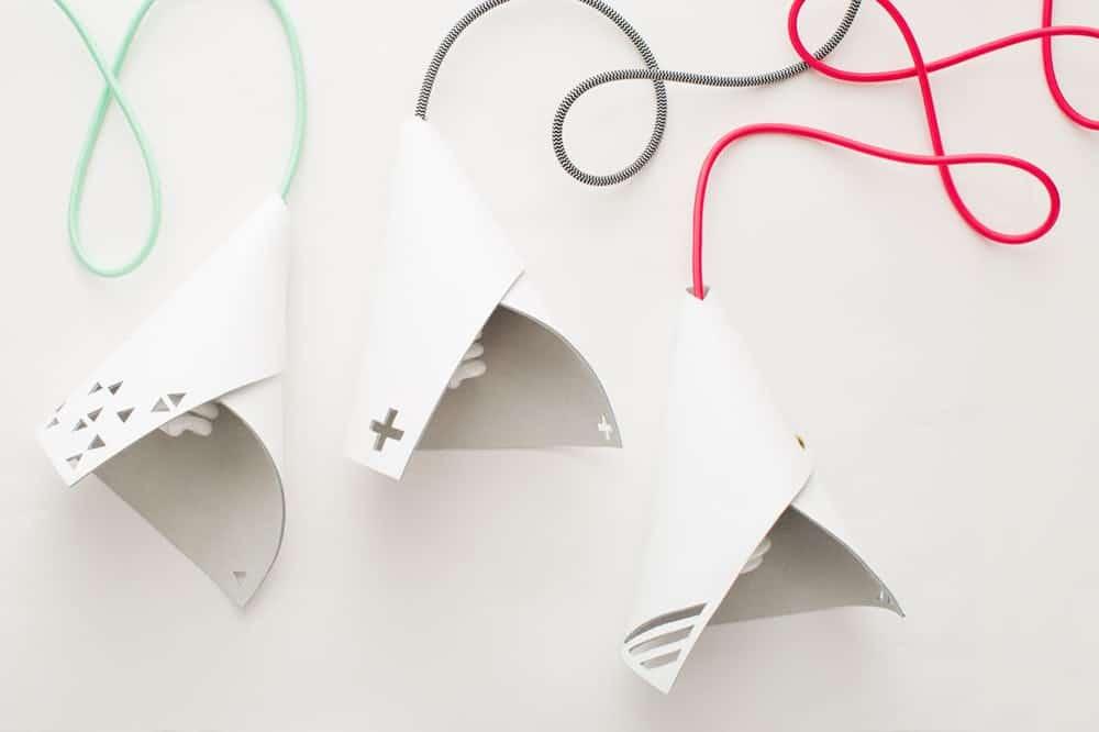 White leather diy pendant leather