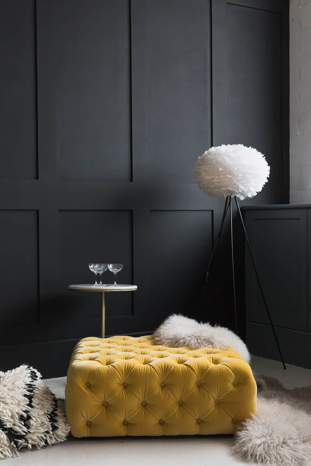 Yellow and black room