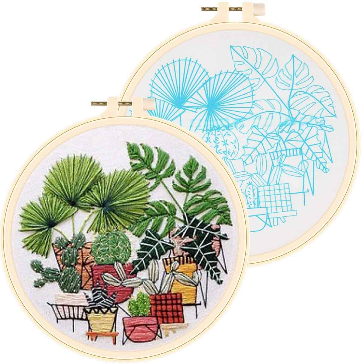 Apipi cross stitch stamped embroidery kit